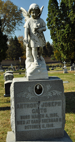 Anthony Caito tombstone, Mount Calvary Cemetery, Columbus. Photo by Amy Crow.
