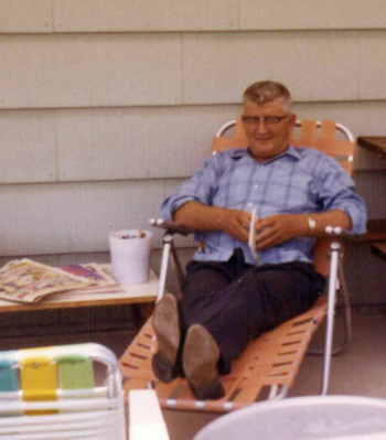 My Grandpa, Ralph F. Ramsey, on a rare visit to our house, 1971.