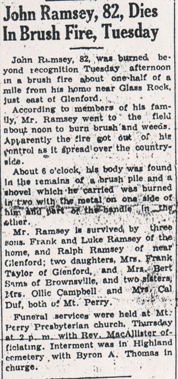 The Somerset (Ohio) Press, Thursday, 10 April 1941, page 1.
