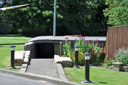Entrance to the Battle of Britain bunker. Photo by Amy Crow, 10 June 2014.
