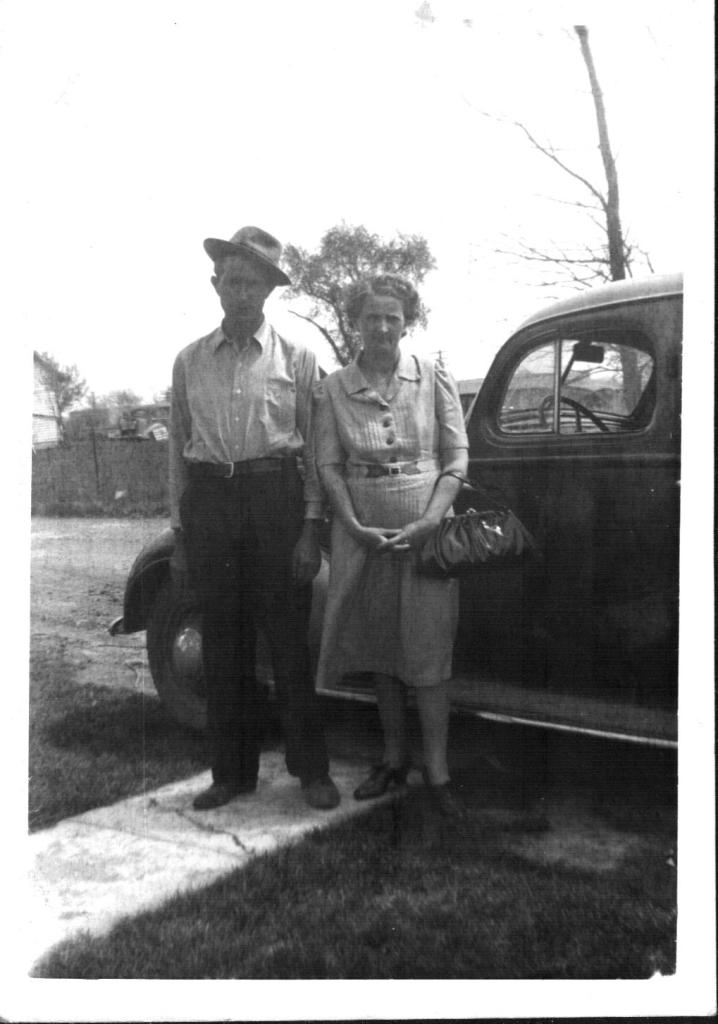 Stanley and Adah (Young) Johnson, undated photo. One of the few photos I have of Grandpa wearing a hat.
