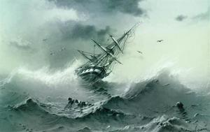 Shipwreck, by Ivan Aivazovsky, 1854. From WikiArt.