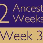 52 Ancestors Challenge 2015: Week 3 Recap