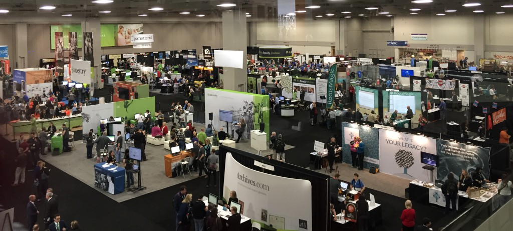 Part of the FGS / RootsTech 2015 Expo Hall. Photo by Amy Crow.