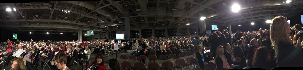 Before the Thursday keynote at RootsTech/FGS 2015.
