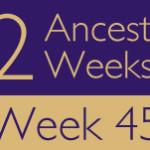 52 Ancestors Challenge 2015: Week 45 Recap