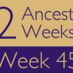 52 Ancestors Challenge: Week 45 Recap