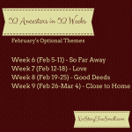 February 2015 Themes for 52 Ancestors